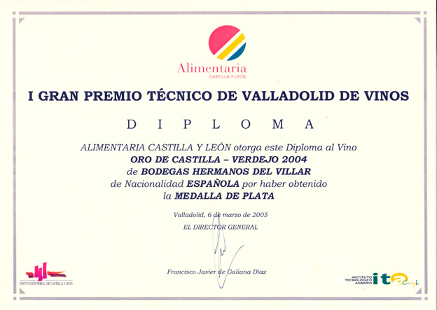 I Gran Premio Técnico de Valladolid de Vinos