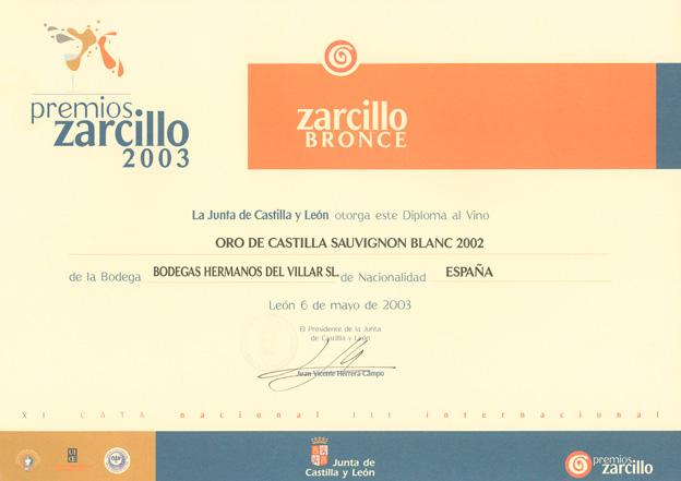 Premios Zarcillo 2003