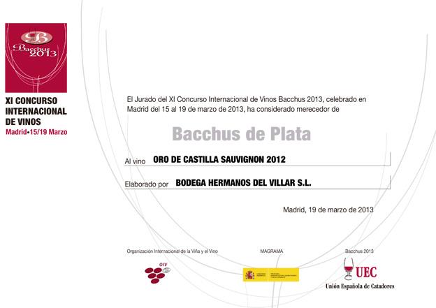 XI Concurso Internacional  de Vino Bacchus 2013