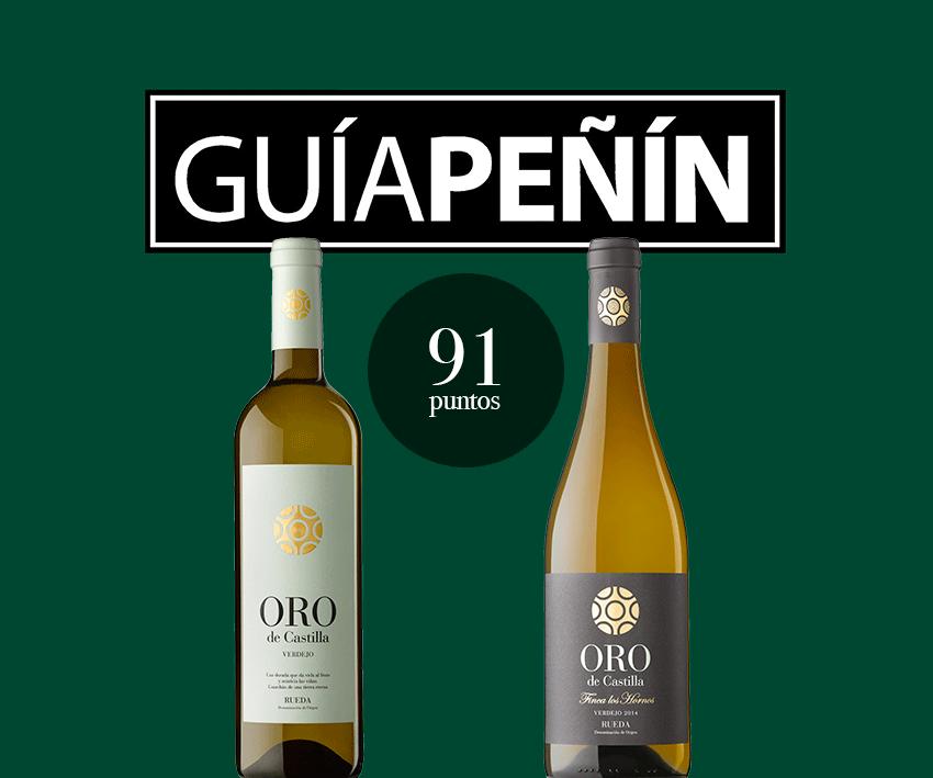 Dos vinos Oro de Castilla, valorados como Excelentes en la Guía Peñín 2018