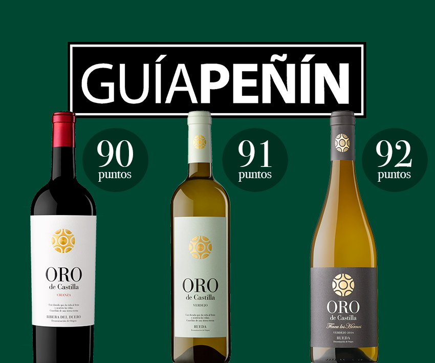 La Guía Peñín destaca como «excelentes» 3 vinos Oro de Castilla