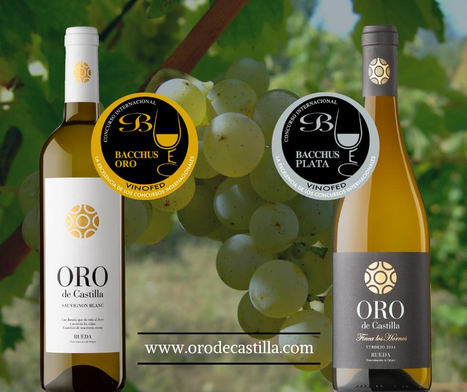 Dos vinos Oro de Castilla, medallas de Oro y Plata en los Premios Bacchus 2019