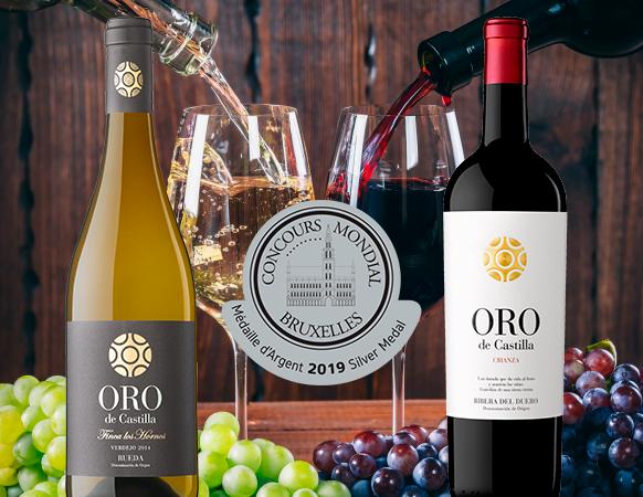 """Los vinos Oro de Castilla hacen """"doblete"""" en el Concurso Mundial de Bruselas"""