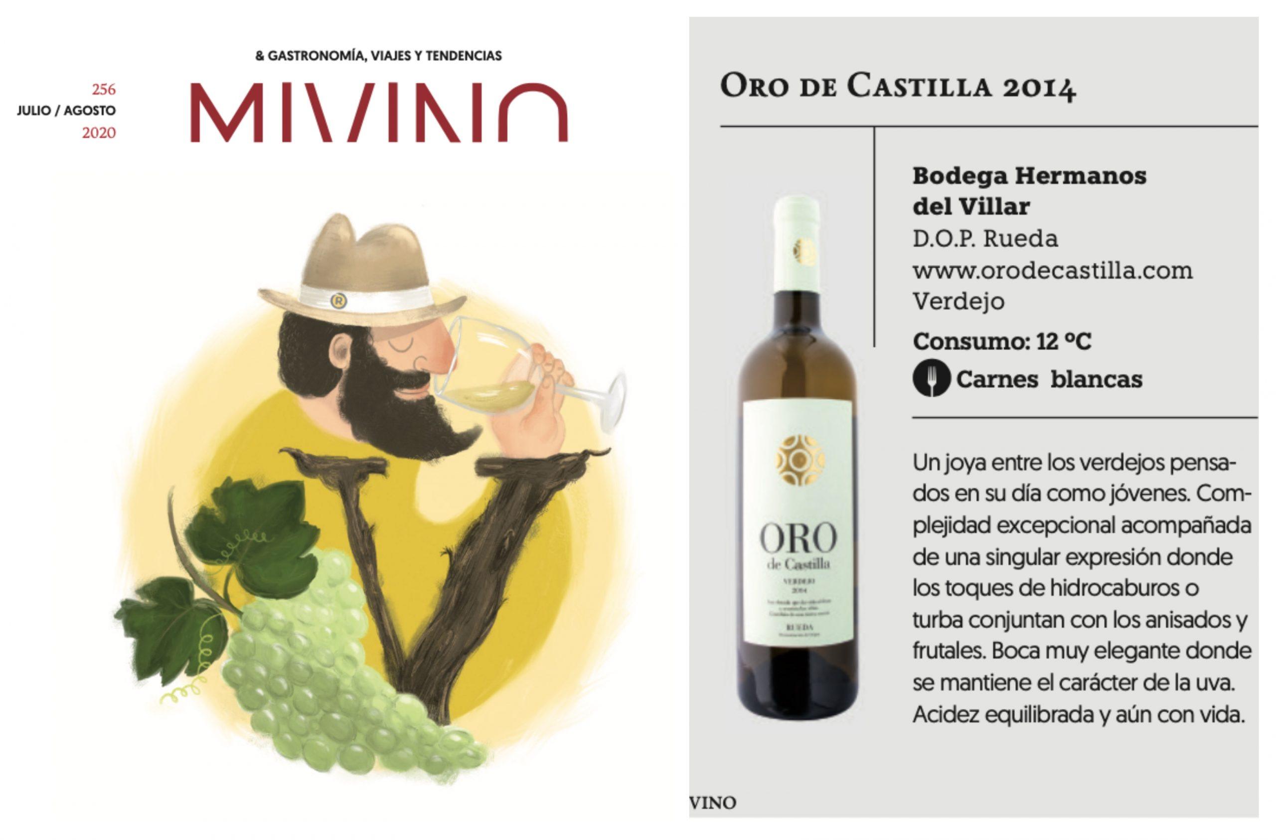 MiVino destaca la capacidad de envejecimiento de Oro de Castilla Verdejo